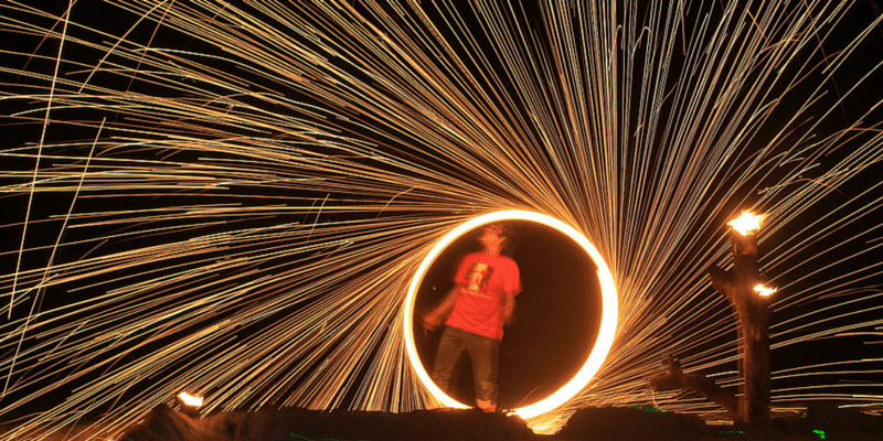 Free fireshows at many beachfront restaurants on the island.