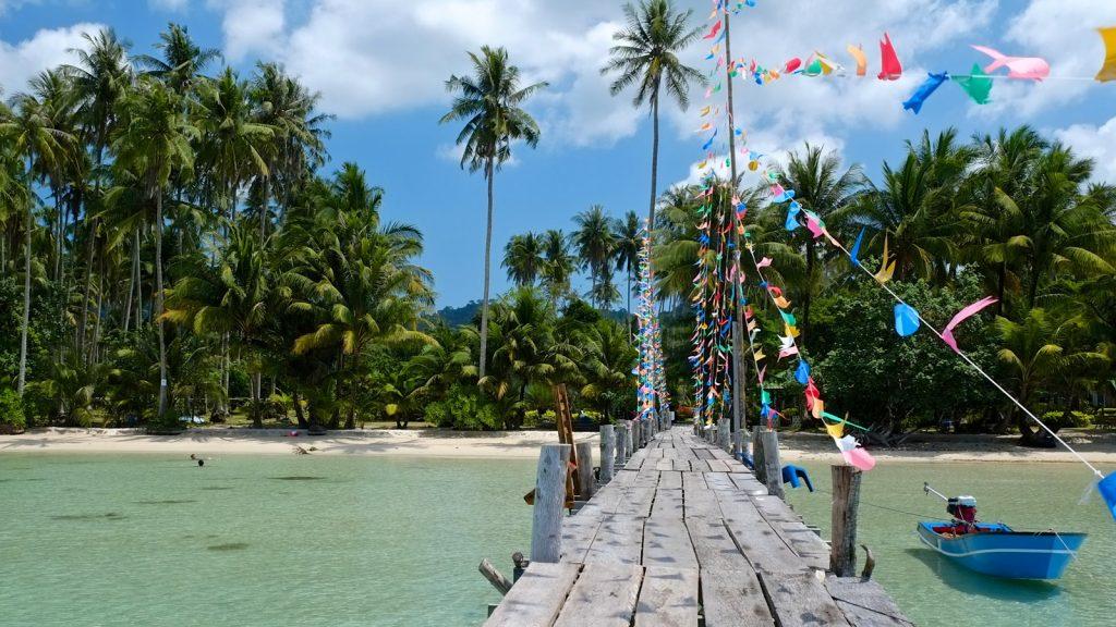 Pier at a resort on Koh Kood island, Trat