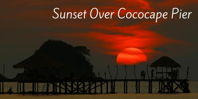 Sunset at Cococape resort, Koh Mak
