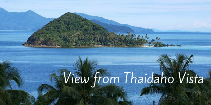 Great views from Thaidaho Vista Koh Mak looking towards Koh Kham and Koh Chang
