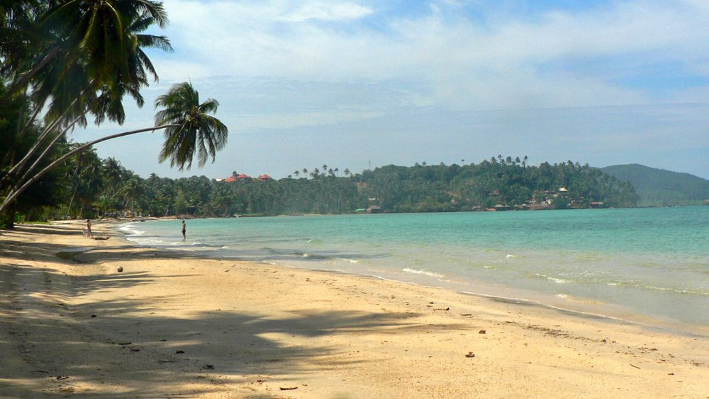 The beach at Koh Mak Resort