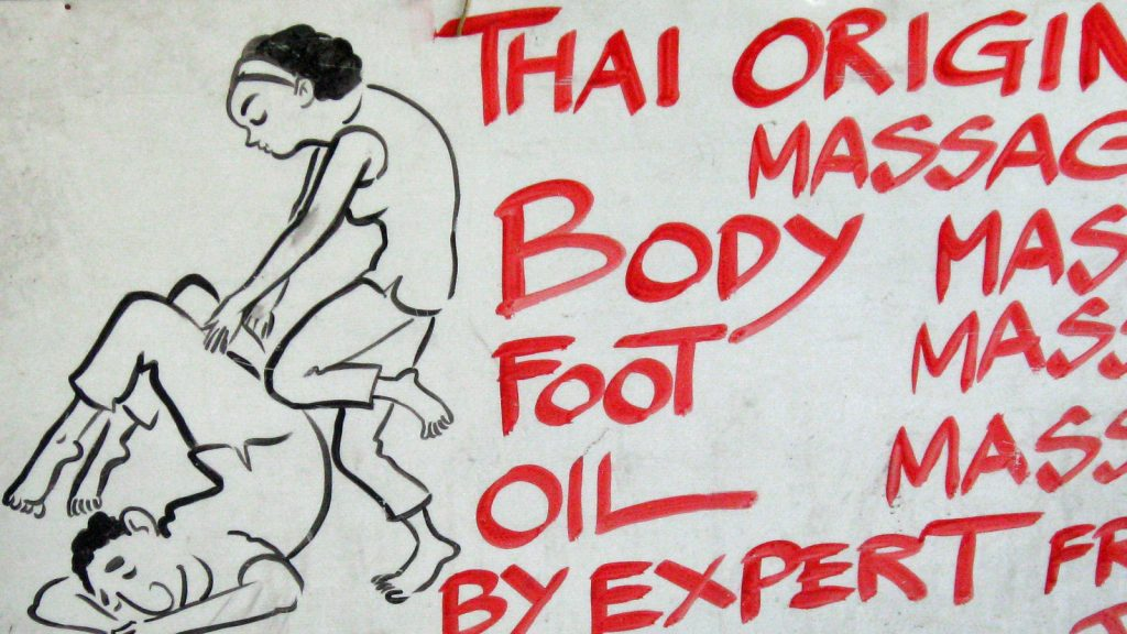 Enjoy a relaxing ( or painful ) traditional Thai massage